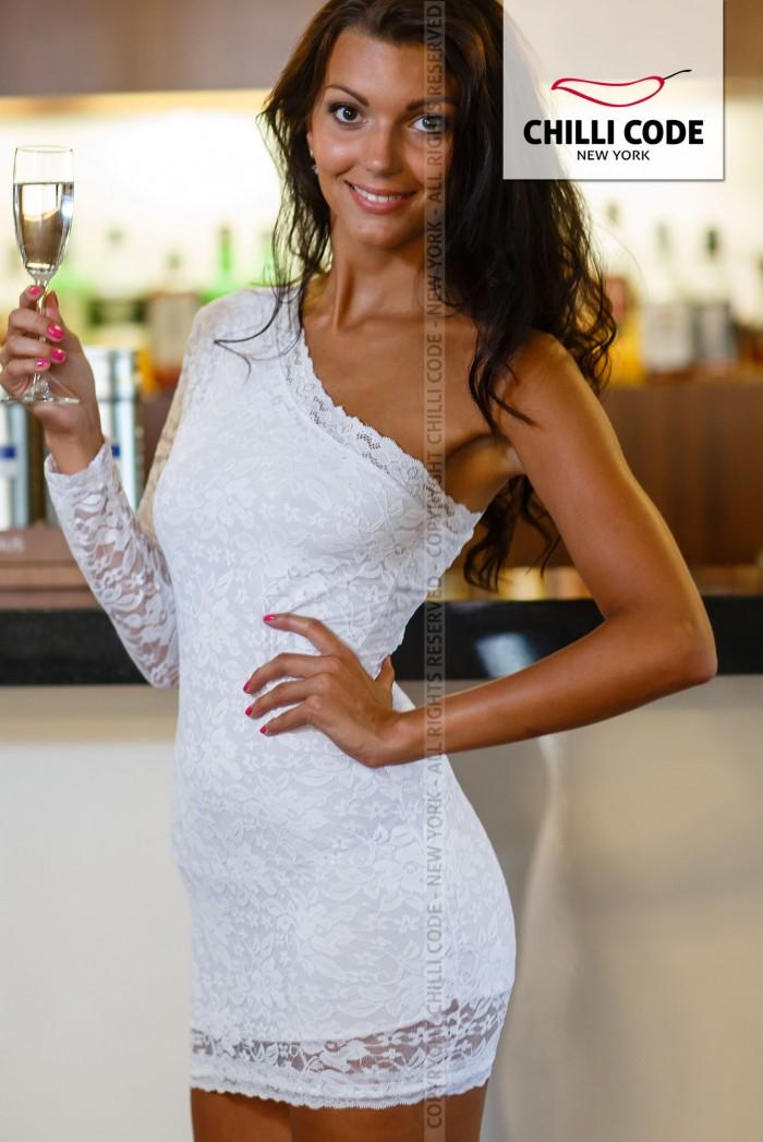 Krajkové šaty Mini dress - Bílá a7d2486fd1