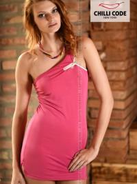 Sexy GoGo mini šaty Zipper - Růžová ae59283103b