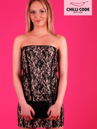 Sexy šaty Prom - Béžová