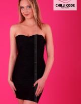 Sexy bandážové šaty Wave - Černá