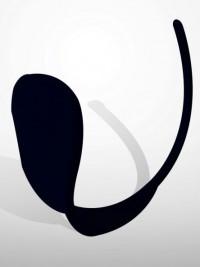 Dámská C string tanga Solid - Černá