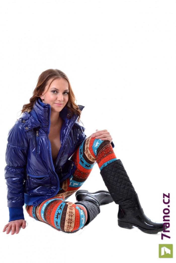 Dámské pletené zimní legíny - Reindeer Love 22060f1f76