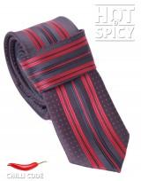 Úzká kravata slim - Červená Spot