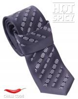 Úzká kravata slim - Černá Cube