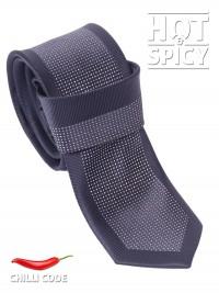 Úzká kravata slim - Černá Dots