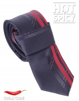 Úzká kravata slim - Černá Flexible strips