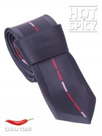 Úzká kravata slim - Černá Strip