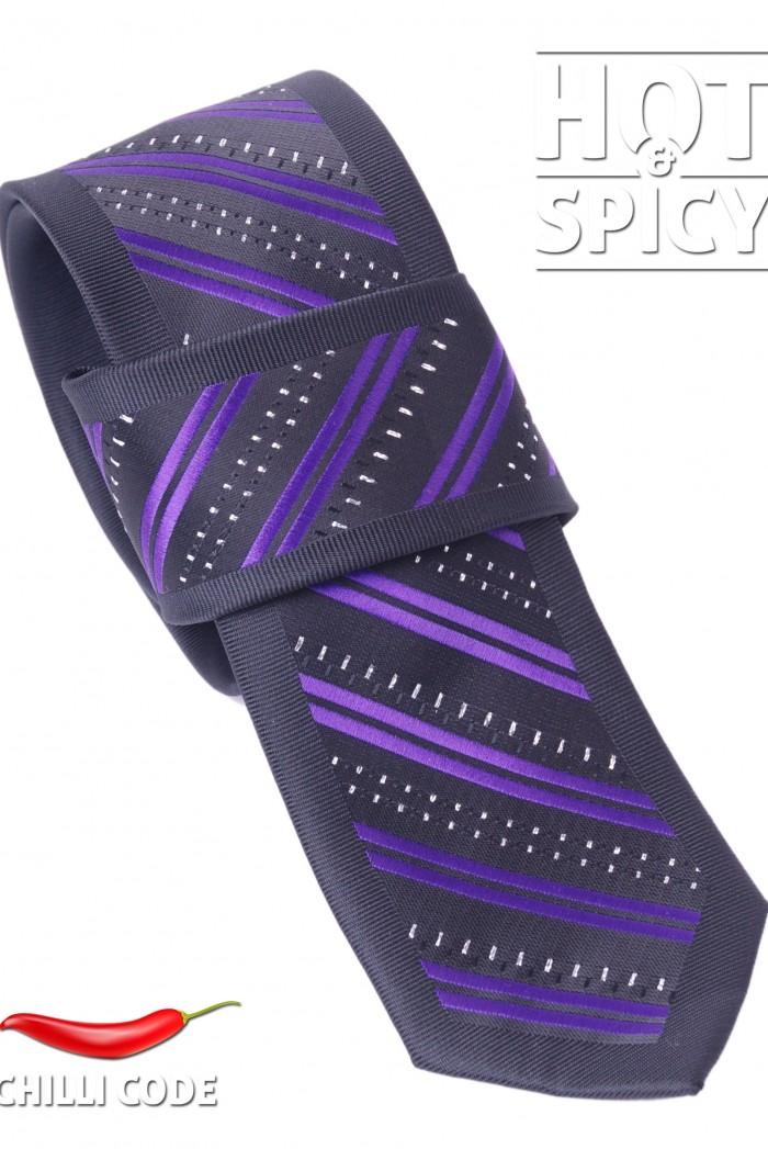 Úzká kravata slim - Fialová Bench