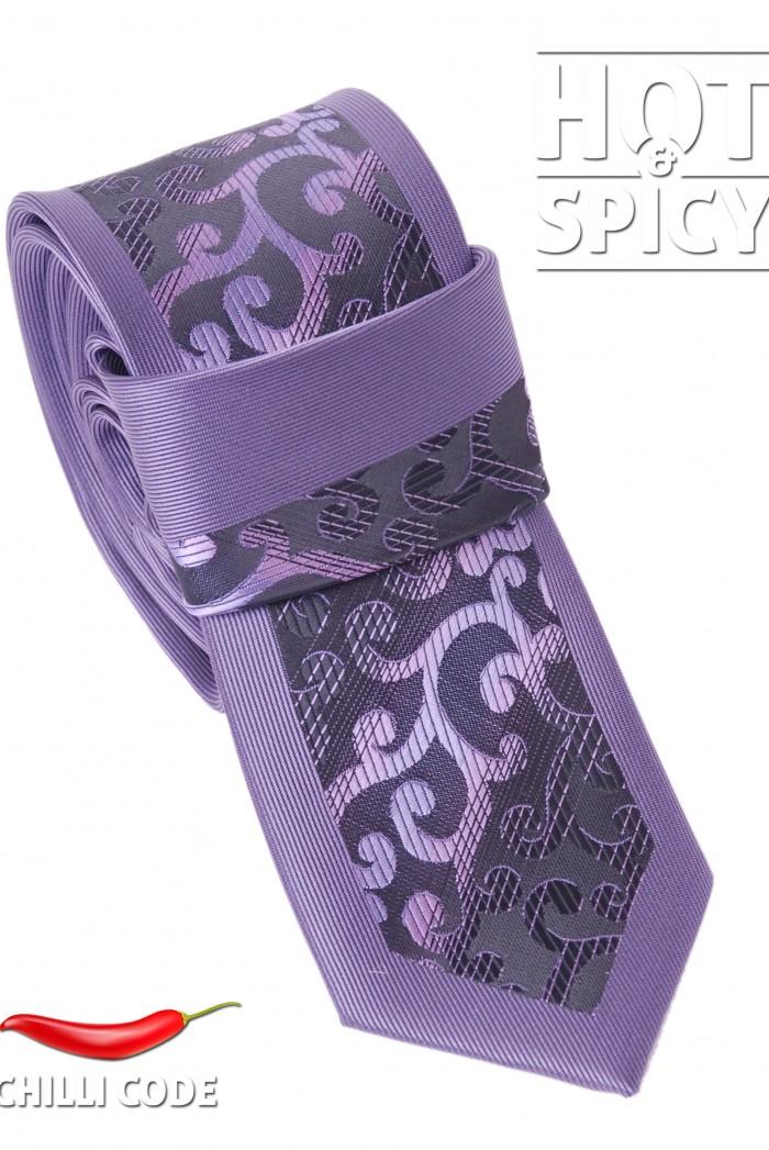 Úzká kravata slim - Fialová Herbage