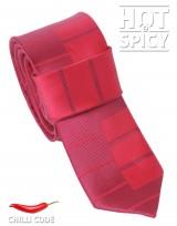 Úzká kravata slim - Červená piano