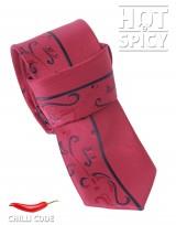 Úzká kravata slim - Červená Stem