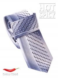 Úzká kravata slim - Šedá Stair
