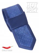 Úzká kravata slim - Modrá Blue night