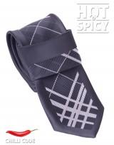 Úzká kravata slim - Černá elegant