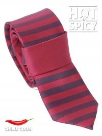 Úzká kravata slim - Červená streaks