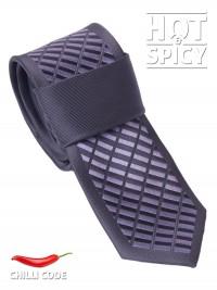 Úzká kravata slim - Černá Grey Dice