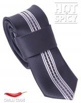Úzká kravata slim - Černá Middle
