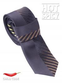 Úzká kravata slim - Černá Downhill