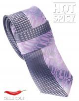 Úzká kravata slim - Šedá Brick