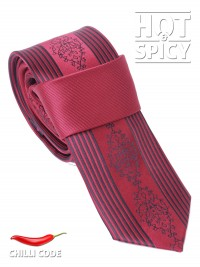 Úzká kravata slim - Červená Sublimity