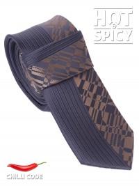 Úzká kravata slim - Černá Brick