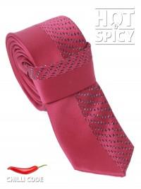 Úzká kravata slim - Červená Fifty-fifty