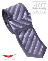 Úzká kravata slim - Šedá Cube