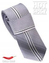 Úzká kravata slim - Šedá Scale