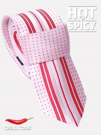 Úzká kravata slim - Růžová Spot