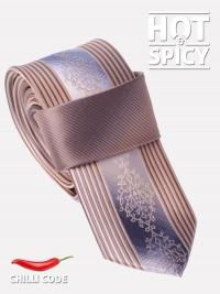 Úzká kravata slim - Hnědá Sublimity