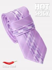 Úzká kravata slim - Fialová Violet strikes