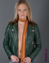 Úzká kravata slim - Oranžová Lines