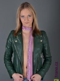 Úzká kravata slim - Růžová Stem