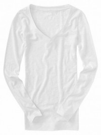 Dámské triko V-Neck - Bílá
