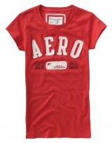Dámské triko Aero Block - Červená