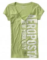 Dámské triko Vertical Logo - Zelená