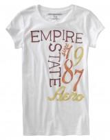 Dámské triko NYC Empire State Graphic - Bílá/Oranžová