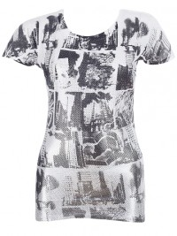 Dámské triko Gotham City - Bílá