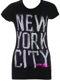Dámské triko Painted NYC - Černá