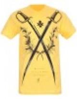 Pánské triko Death Before Dishonor - Žlutá