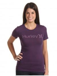 Dámské triko Hurley Perfect Crew - Fialová