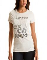 Dámské triko Stacked Sequin - Béžová