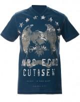 Pánské triko Collection Rough Eagle - Modrá