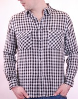 Pánská košile 2 Faces - Černobílá