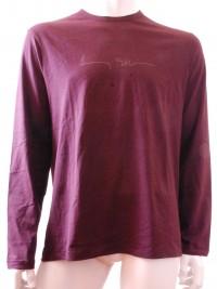 Pánské triko Signiture - Vínová