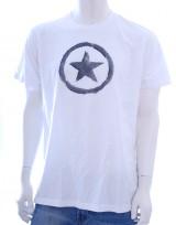 Pánské triko Circle Star - Bílá