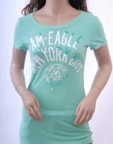 Dámské triko Poste - Zelená