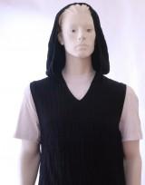 Pánská vesta s kapucí Exclusive - Černá