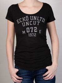Dámské triko Varsity Uncut - Černá