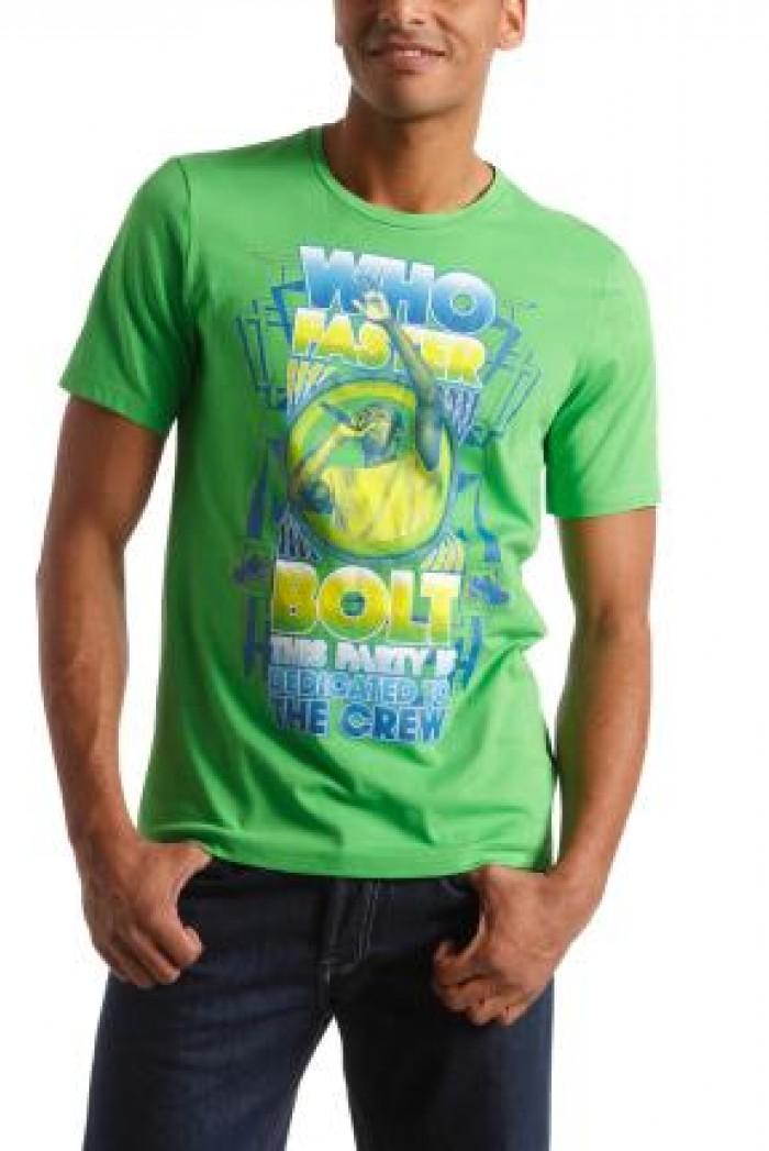 5496e7fa69d Pánské triko Usain Bolt - Zelená